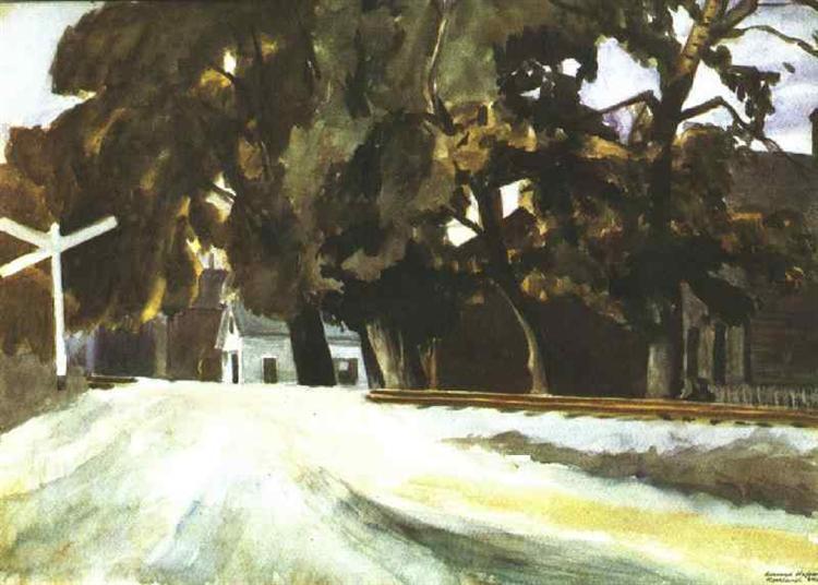 Railroad Crossing, 1926 - Edward Hopper