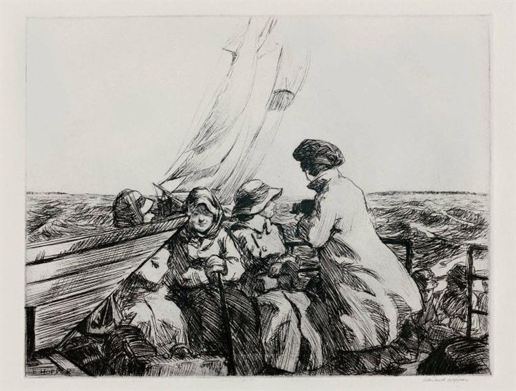 The Monhegan Boat, 1918 - Edward Hopper