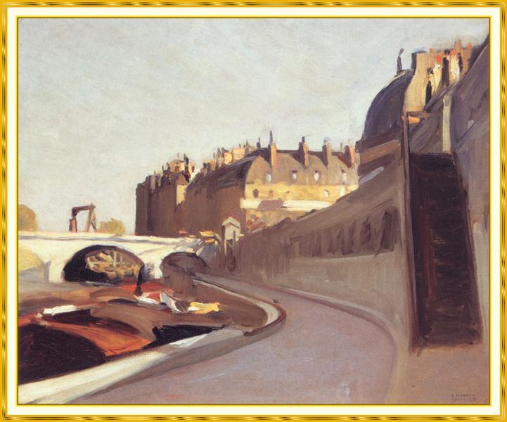 TheQuai desGrands Augustins, 1909 - Edward Hopper