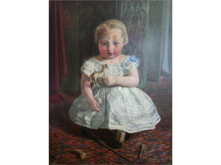 Portrait of a child, 1865 - Edward R. Taylor