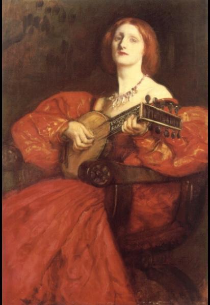 La joueuse de luth - Edwin Austin Abbey