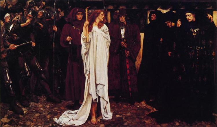 La pénitence d'Eléanor, Duchesse de Glouster, 1900 - Edwin Austin Abbey
