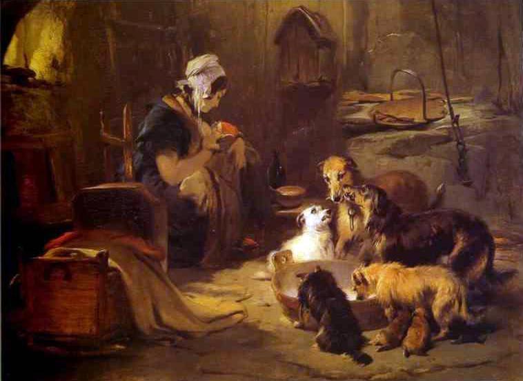 a highland breakfast 1834 edwin henry landseer. Black Bedroom Furniture Sets. Home Design Ideas