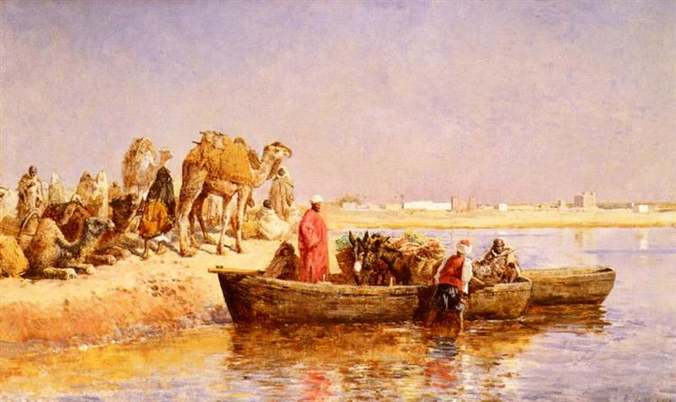 Along The Nile - Edwin Lord Weeks