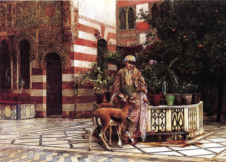 Girl in a Moorish Courtyard, 1880 - Edwin Lord Weeks