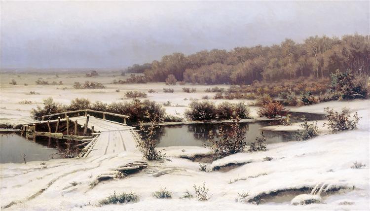 First Snow, 1883 - Efim Volkov