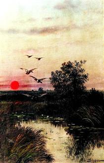 Sunset over the Lake - Ефим Волков