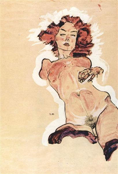 Female nude, 1910 - Egon Schiele