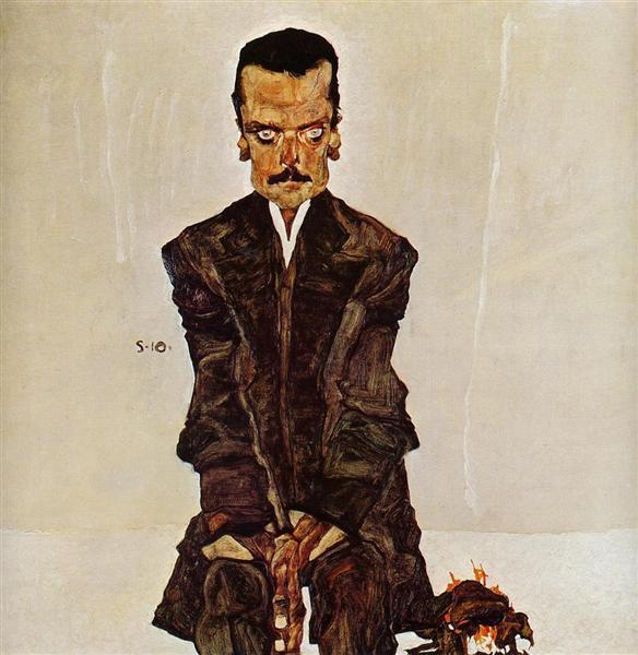Portrait of the Publisher Eduard Kosmack, 1910 - Egon Schiele