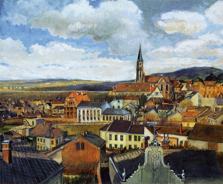 View from the Drawing Classroom, Klosterneuburg, c.1905 - Egon Schiele
