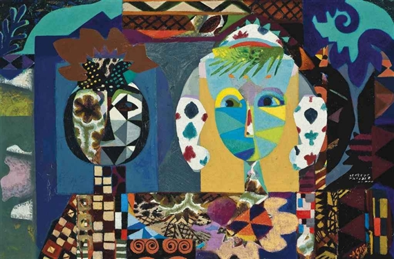 Lewis Carroll with Alice, 1961 - Eileen Agar