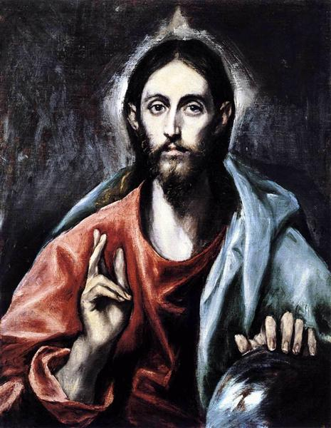 Christ blessing (The Saviour of the World), c.1600 - El Greco