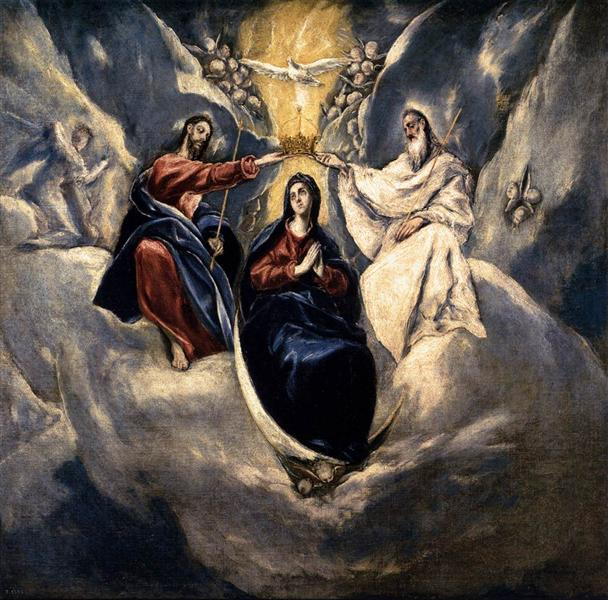 Coronation of the Virgin, 1591 - El Greco