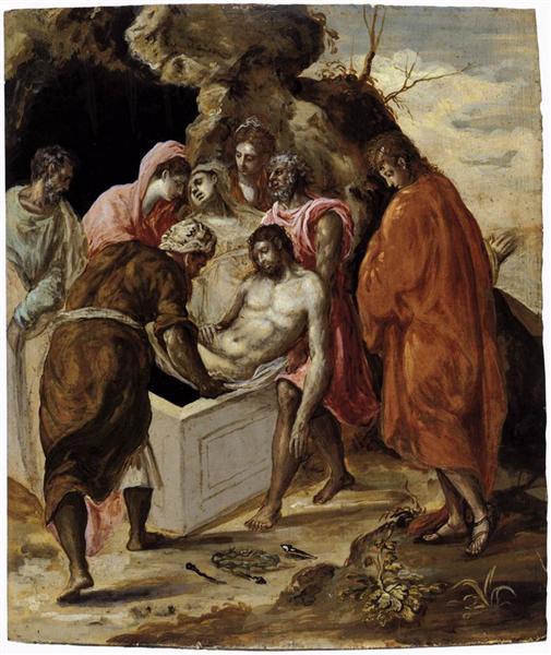 Deposition in the tomb, c.1575 - El Greco
