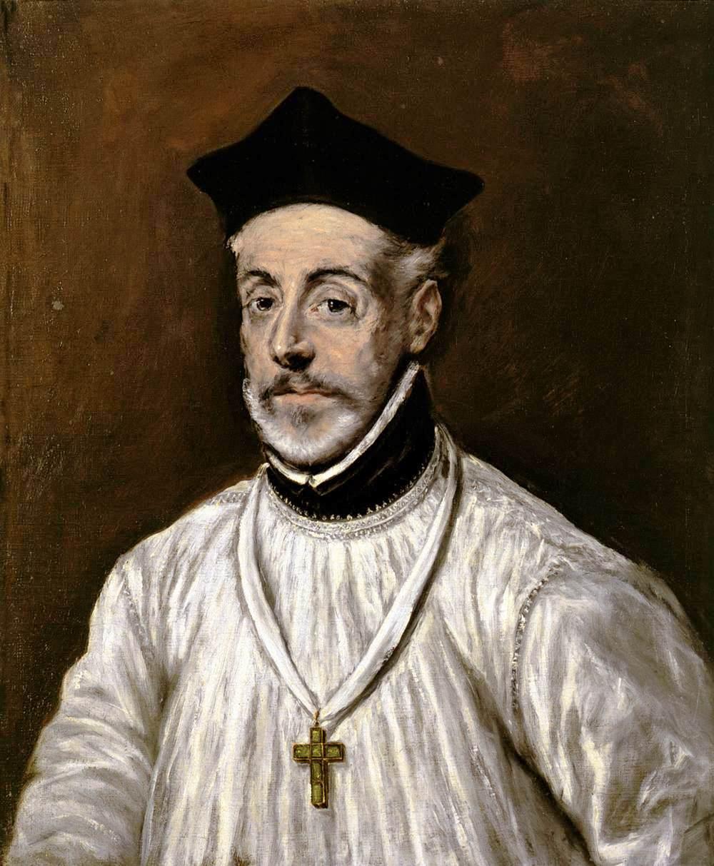 Stile Peplo Greco: Portrait Of Diego De Covarrubias