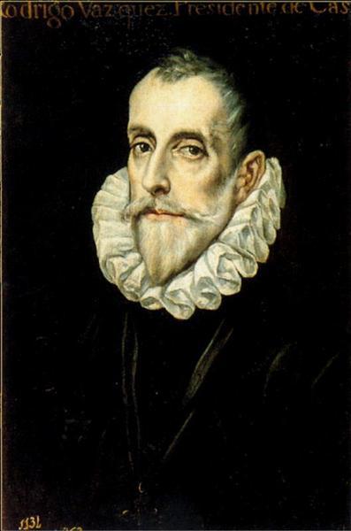 Portrait Of Don Rodrigo Vasquez, c.1605 - El Greco