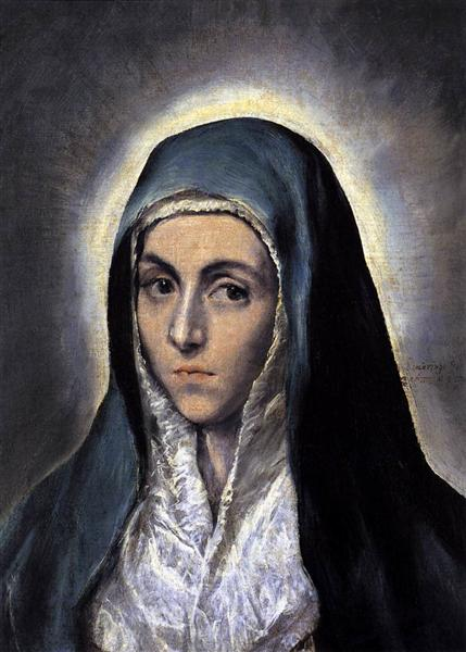 Virgin Mary, c.1585 - El Greco