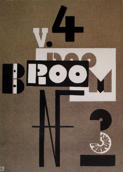 Cover of Broom, 1923 - El Lissitzky