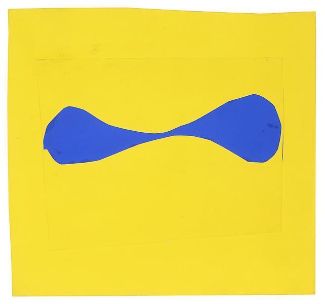 Blue Form on Yellow, 1962 - Ellsworth Kelly