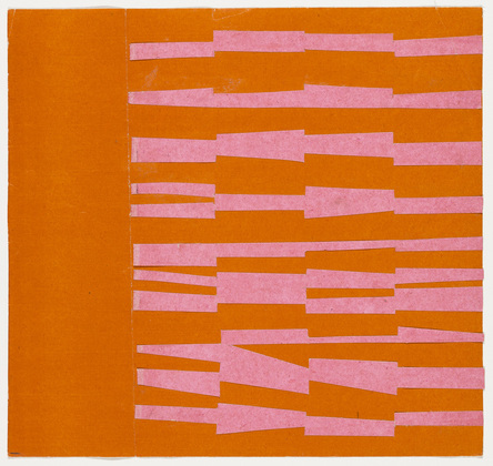 Pink and Orange from the series Line Form Color, 1951 - Ellsworth Kelly