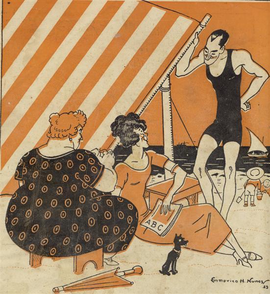 "Capa ""ABC - Revista Portugueza"", nº 162, Ano IV de 23 de Agosto, 1923 - Еммеріко Нунез"