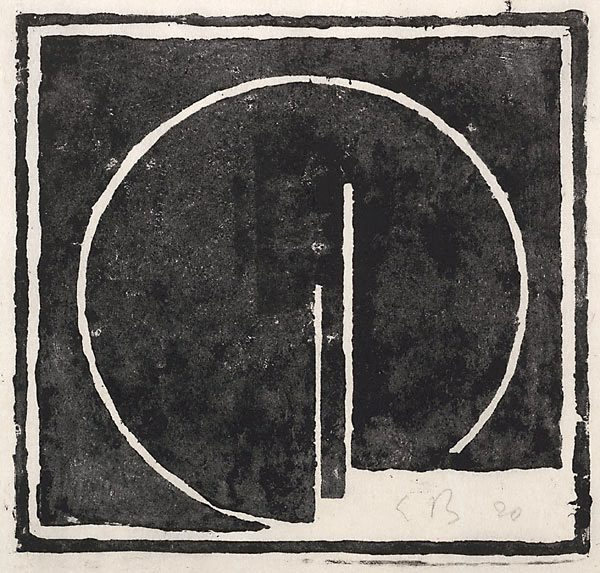 Open circle with two verticals, 1920 - Erich Buchholz