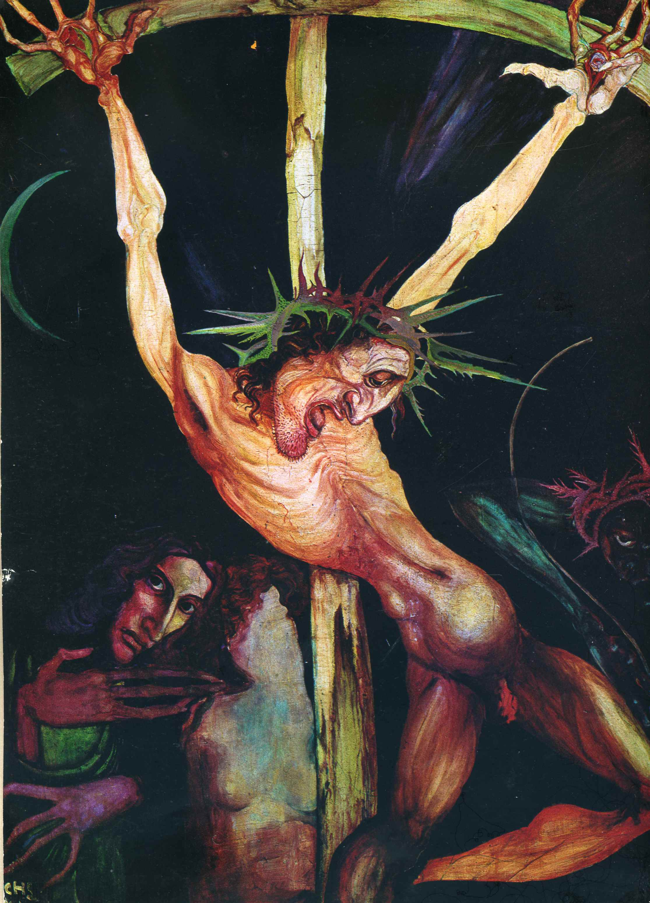 Crucifixion And Self Portrait With Inge Beside The Cross   Ernst