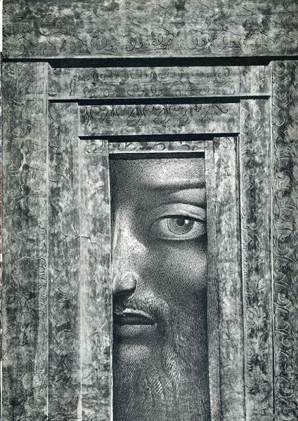 Looking through space (The golden nose) - Ernst Fuchs