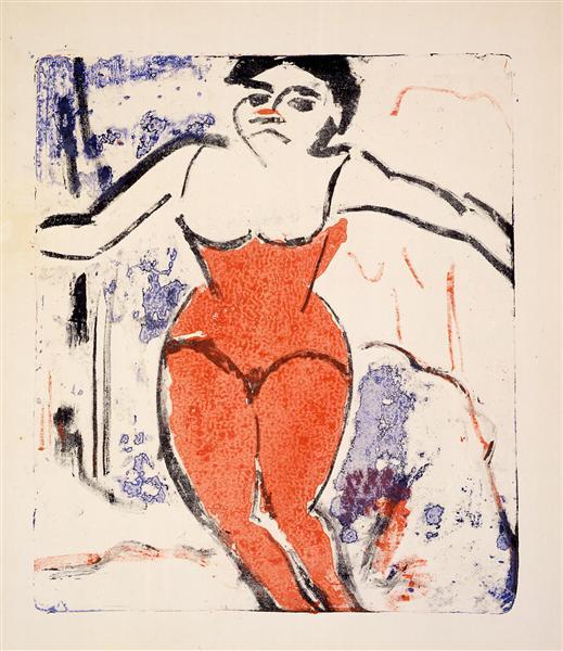 Artist Begging for Applause, 1909 - Ernst Ludwig Kirchner