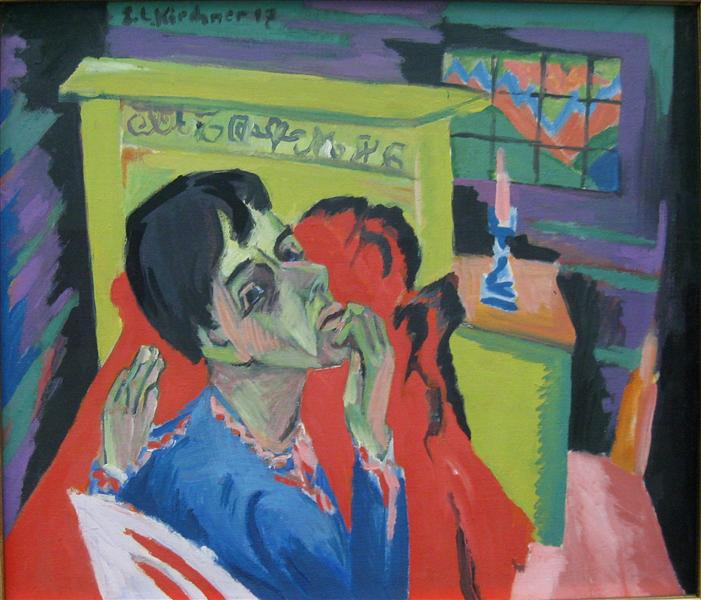 self portrait as an invalid 1918 ernst ludwig kirchner wikiart org