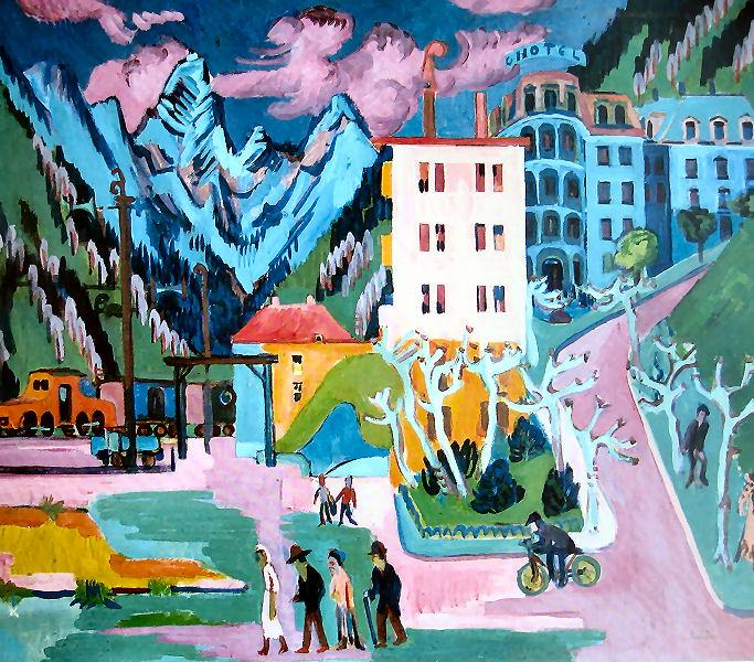Station in Davos, 1925 - Ernst Ludwig Kirchner