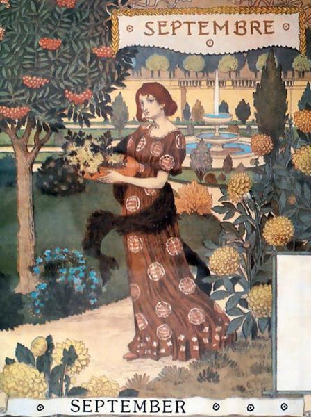 La Belle Jardiniere – Septembre, 1896 - Eugène Grasset