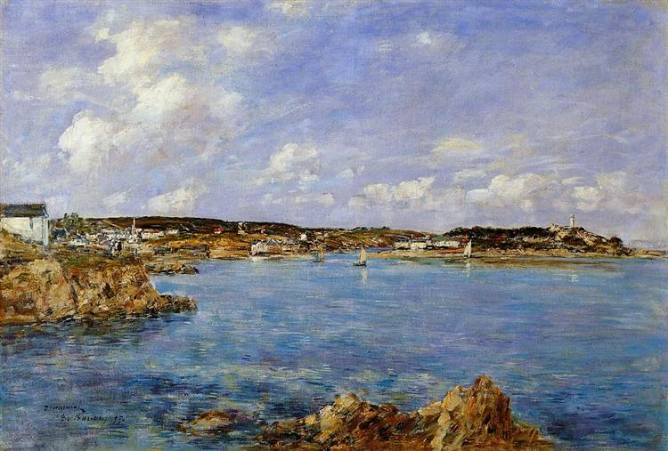 Douarnenez, the Bay, View of Tristan isle, 1897 - Eugene Boudin