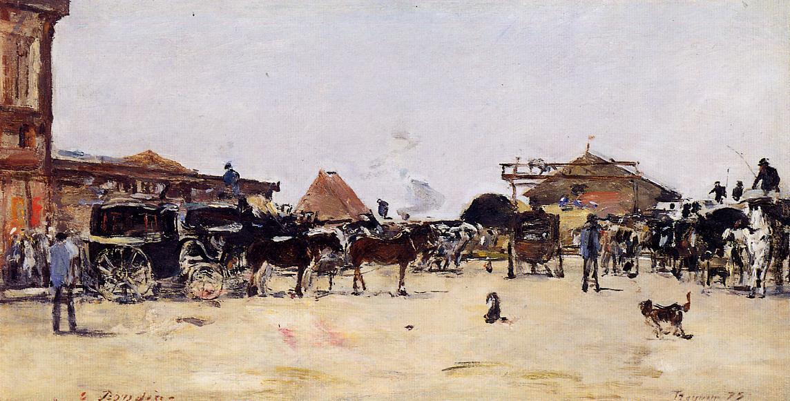 La Place de la Gare a Deauville, 1879