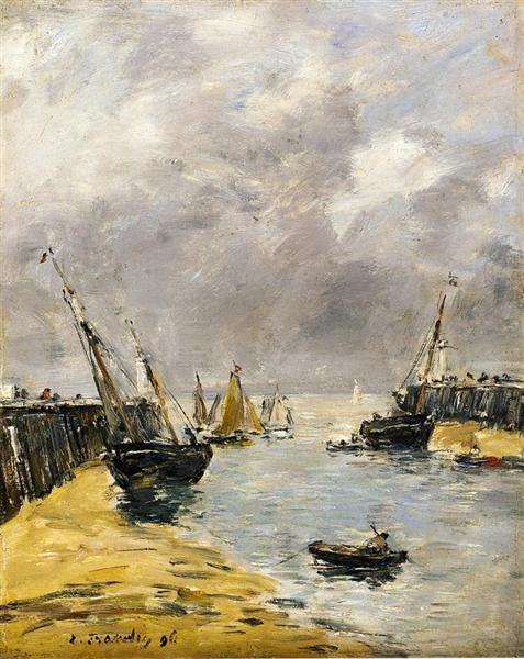 The Jetties, Low Tide, Trouville, 1896 - Eugene Boudin
