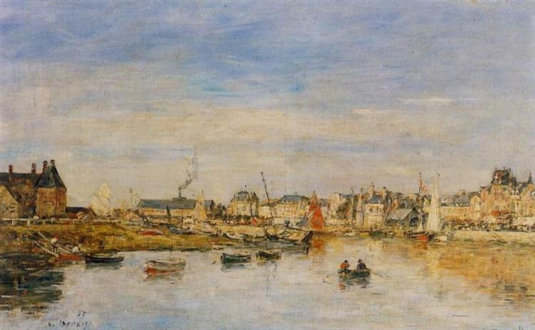 The Port of Trouville, 1897 - Eugene Boudin