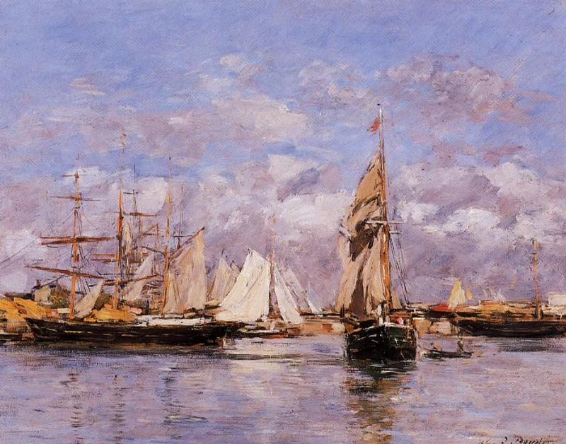 The Port of Trouville, High Tide, 1880