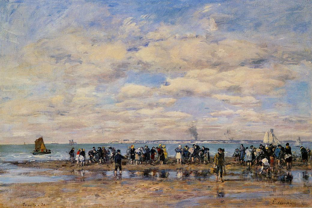 Trouville, the Beach at Low Tide, 1878