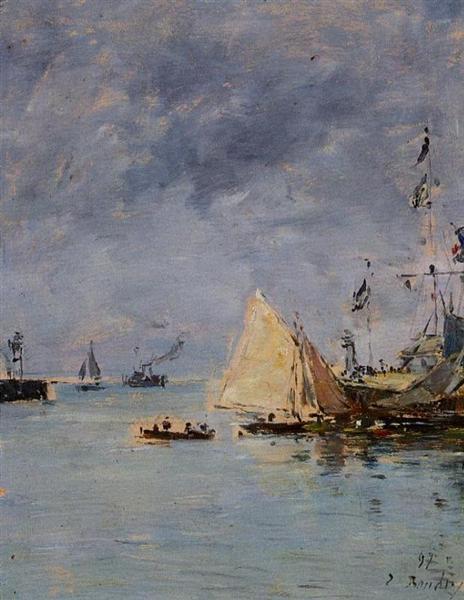 Trouville. The Jettys High Tide., 1897 - Eugene Boudin