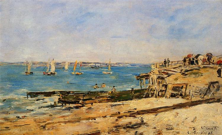 Villerville, the Shore, 1896 - Eugène Boudin