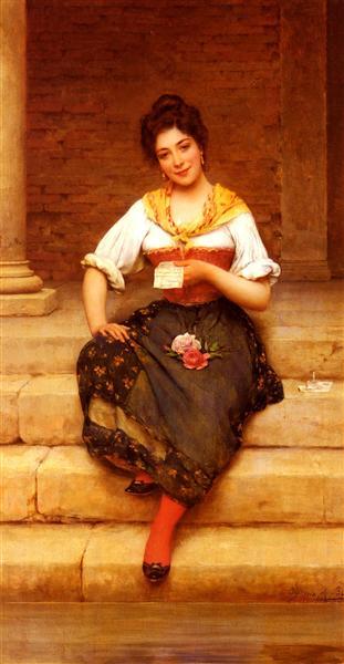 The Love Letter, 1902 - Eugen de Blaas