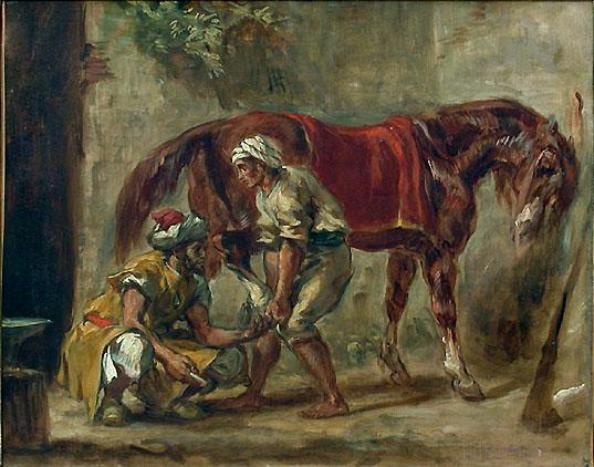 A blacksmith - Eugene Delacroix