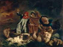 The Barque of Dante (Dante and Virgil in the Underworld) - Eugene Delacroix