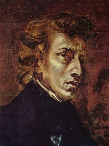 Frederic Chopin, 1838 - Eugene Delacroix