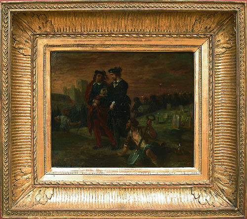 Hamlet and Horatio in the cemetery, 1839 - Eugene Delacroix