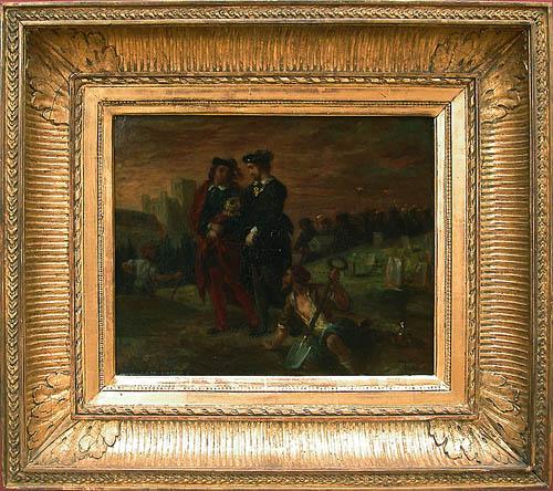 Гамлет и Горацио на кладбище, 1839 - Эжен Делакруа