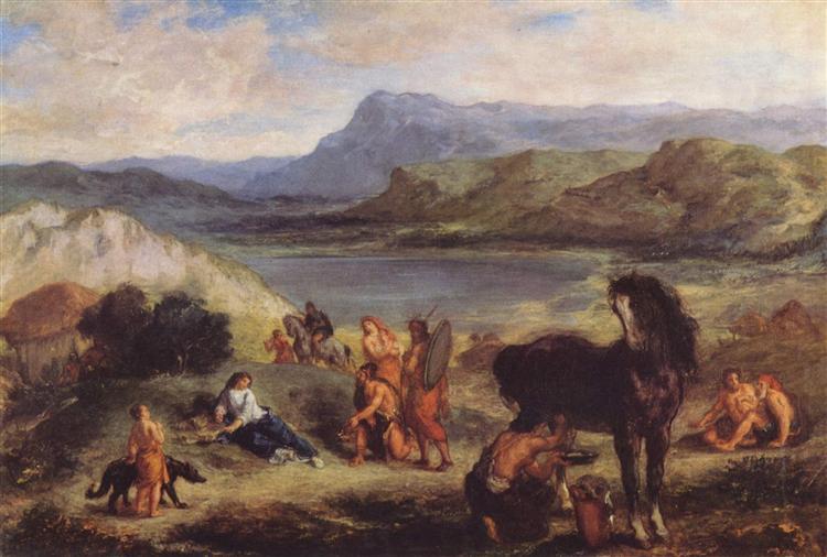 Овидий среди скифов, 1859 - Эжен Делакруа