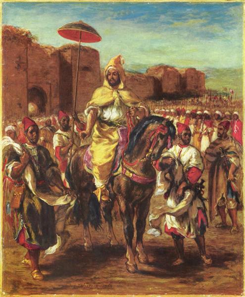 Portrait of the Sultan of Morocco, 1862 - Eugène Delacroix