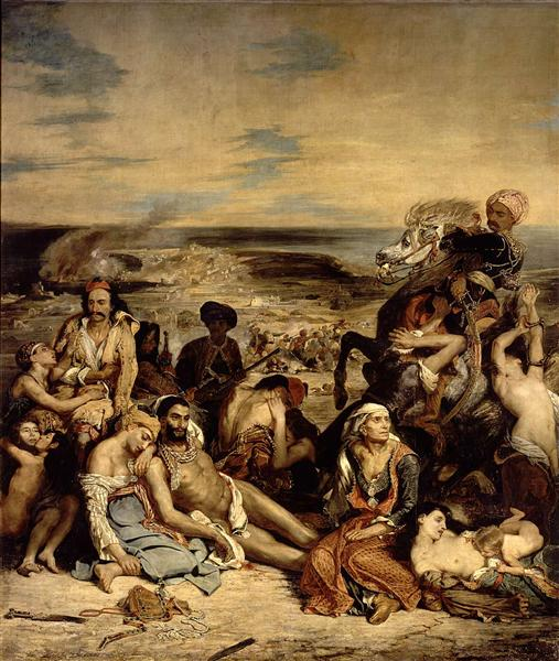 Scenes from the Massacre of Chios, 1822 - Eugene Delacroix