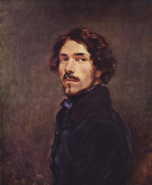 Self Portrait, c.1840 - Eugene Delacroix